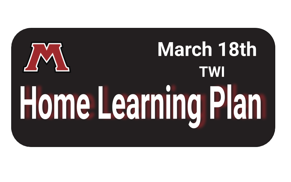 TWI kinder home learning plan